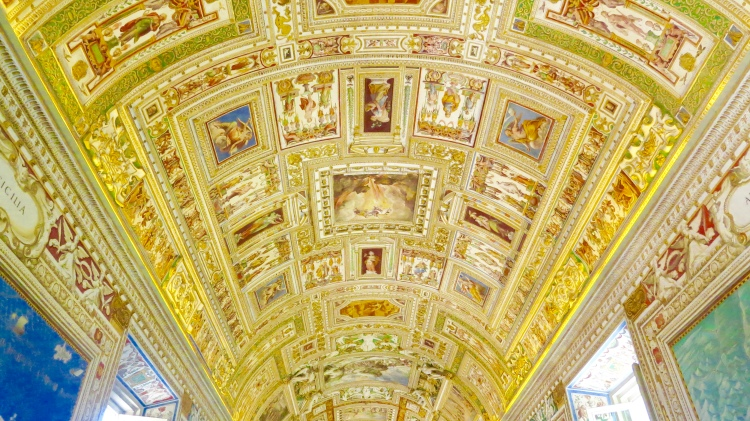 The Vatican ceiling mural