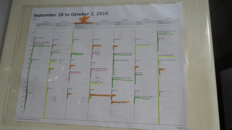 Calendar on Seamester (Argo)